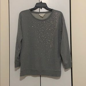 Two by Vince Camuto studded sweatshirt